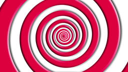 coil, red and white, loop Animation
