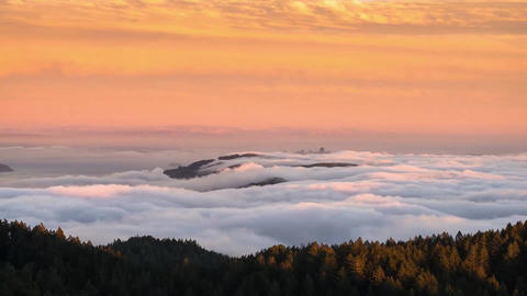 云海延时日落 The sea of clouds Time-lapse photography The sunset Bild