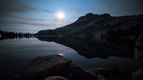 The lake Time-lapse photography sunset Footage