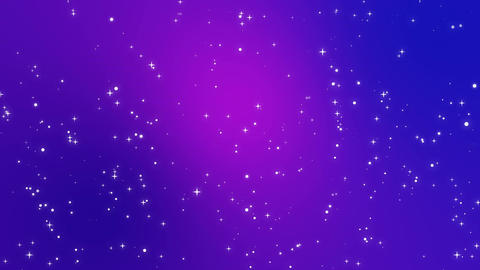 Purple background with falling light particles Animation
