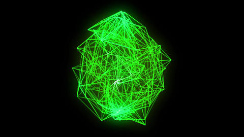 wireframe loop, green Animation