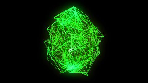 wireframe loop, green CG動画素材