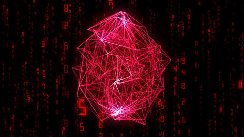 digital image, wireframe, red Animation