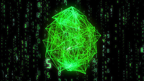 digital image, wireframe, green Animation