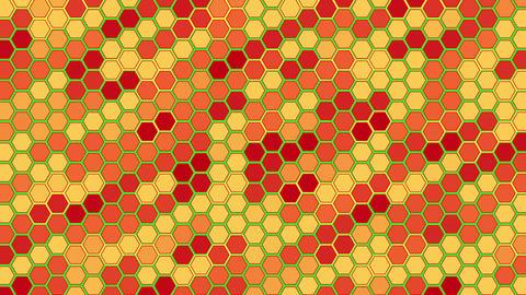 3D Hexagon Led Wall GIF
