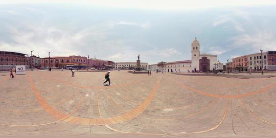 360Vr La Merced Square In Quito Ecuador Capital Footage