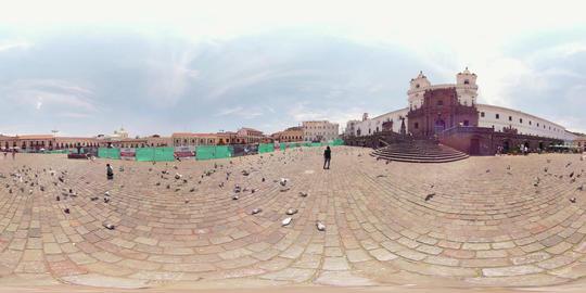 360Vr Plaza San Francisco In Quito Ecuador Daytime Footage