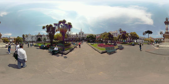 360Vr Carondelet Presidential Palace At Independence Square In Quito Ecuador Footage
