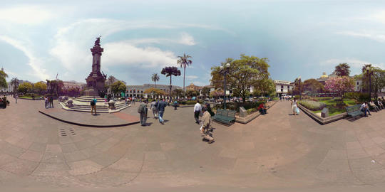 360Vr Plaza De Independencia Quito In A Sunny Day Footage
