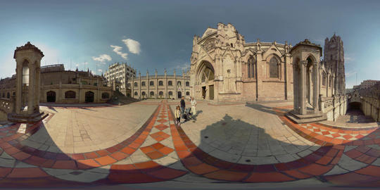 360Vr Basilica Del Voto Nacional Quito Ecuador Exterior From The Backyard Footage