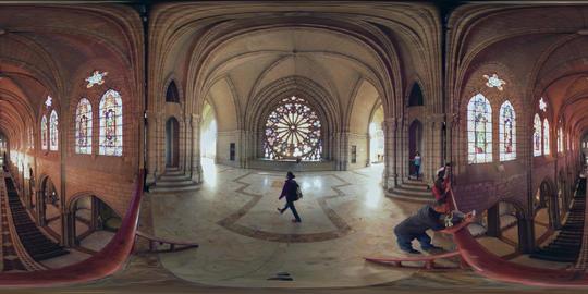 360Vr Interior Of Basilica Del Voto Nacional Quito Ecuador Daytime Footage