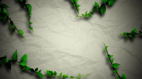 Ring of plant growing, paper texture background Animación