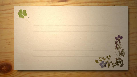 letter paper with Pressed Flower Animation