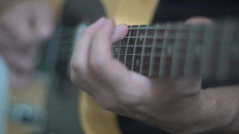 4K Man Playing Guitar Solo Live Action