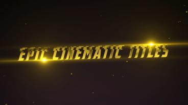 Epic Cinematic Titles Plantilla de After Effects
