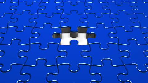 Blue Jigsaw Puzzle Animation