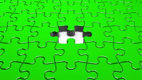 Green Jigsaw Puzzle CG動画