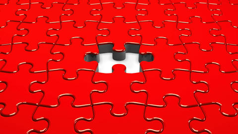 Red Jigsaw Puzzle CG動画