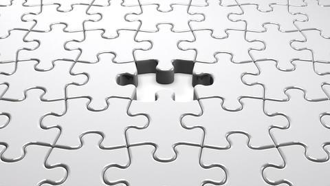 White Jigsaw Puzzle CG動画