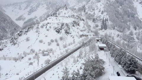 Snow in the Mountains Footage