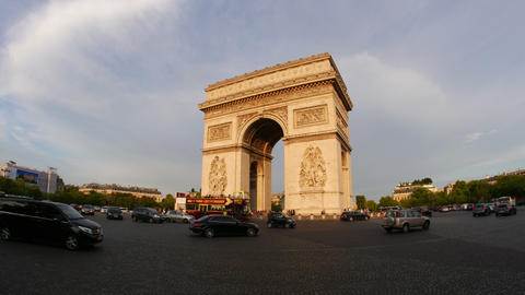 PARIS - FRANCE, AUGUST 2015: champs elysees day time, timelapse Footage