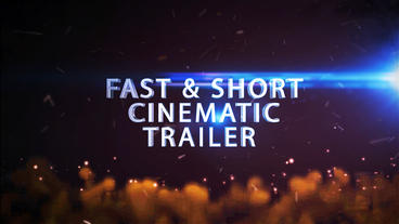 Fast And Short Cinematic Trailer(style 2) stock footage