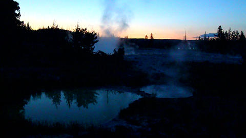 West Thumb Geyser Basin Yellowstone Footage
