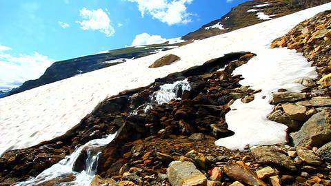 Melting Snow Montana Mountains Footage