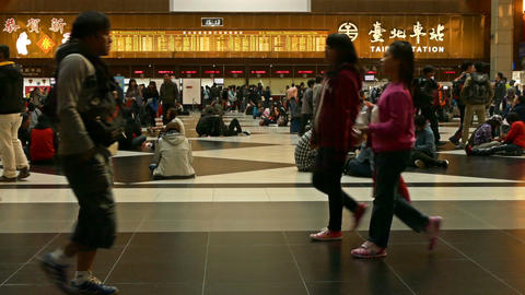 Ticket lobby at Taipei Train Station Live Action