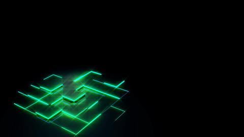 abstract box Piston green 1 Animation