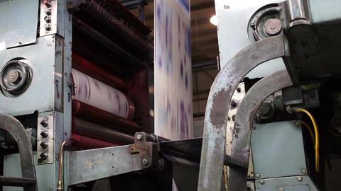 Industrial Offset Press Cyan Drum Handheld Live Action