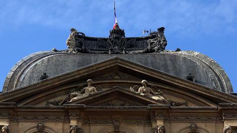 Louvre. The famous art museum in Paris. France Live Action