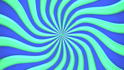 Abstract Green Wave On Blue Background CG動画
