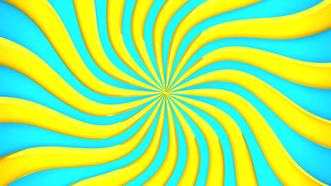 Abstract Yellow Wave On Blue Background CG動画