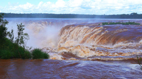 Beautiful Iguazu waterfalls at the Argentina border Footage