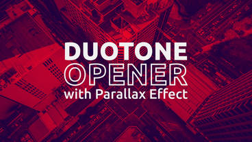 Duotone Opener with Parallax Effect After Effects Template