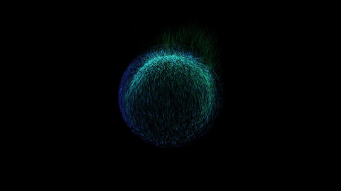 Bushy Ball Effects Loop 01 CG動画素材