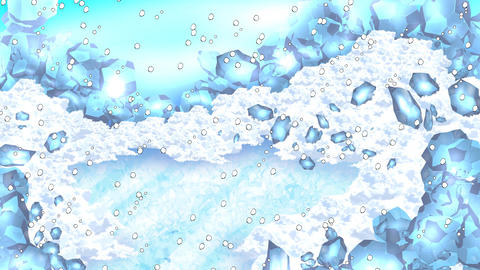 Ice world snow fall Animation