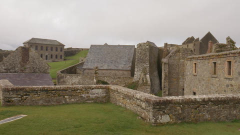 Charles fort, a star shaped fort from 17th century in Ireland Footage
