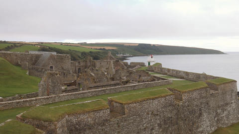 Panorama of Charles fort, a star shaped fort from 17th century in Ireland Footage
