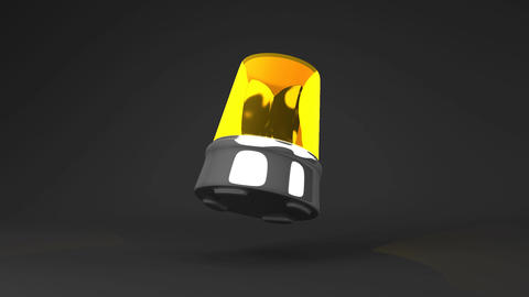 Jumping Yellow Warning Light On Black Background CG動画