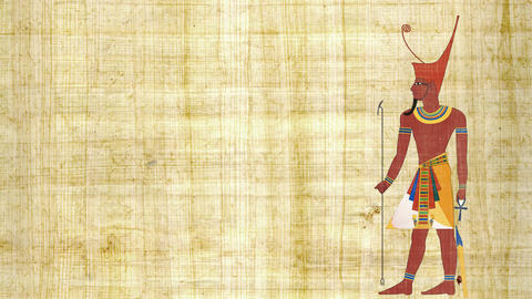Lower Egypt Pharaoh on a Papyrus Background 画像