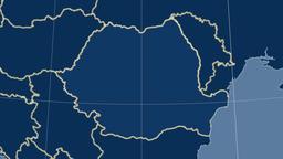 Romania and neighborhood. Solids Animation