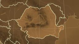 Romania and neighborhood. Tint Animation
