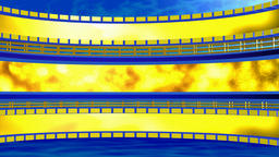 Circular background with lattice yellow blue. 3d Rendering CG動画素材