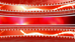Circular background with lattice white red.3d Rendering CG動画素材