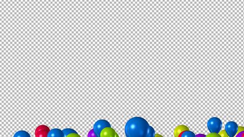 Balloons Transition 4K 動画素材, ムービー映像素材