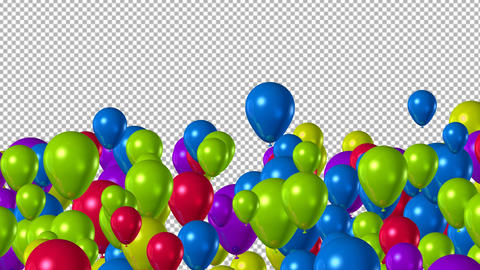 Balloons Transition 4K Animation