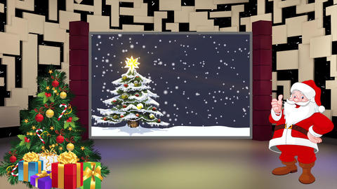 Christmas TV Studio Set 18- Virtual Background Loop ライブ動画