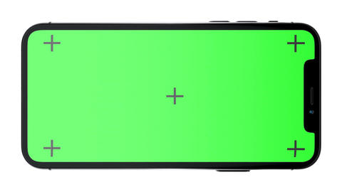Black Phone X with green screen and Luma Matte Animation